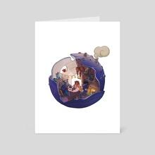 Ocean Tea Time - Art Card by mimee