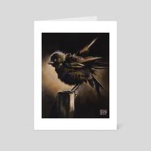 baby bird - Art Card by Kendall Stump