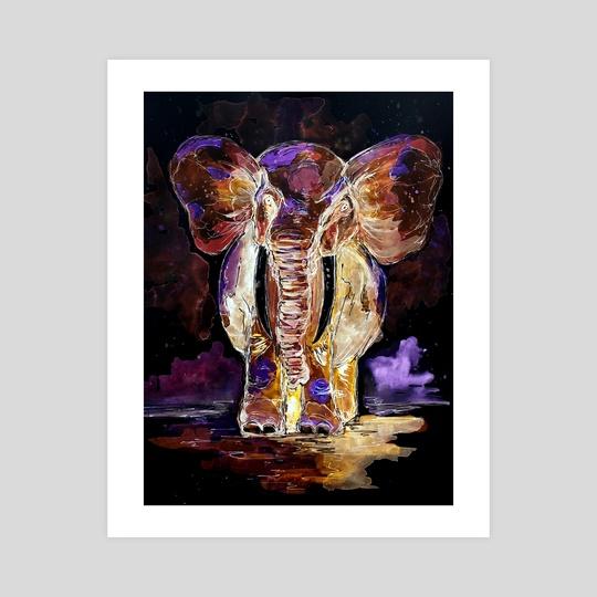 Translucent Elephant by Sebastian Grafmann