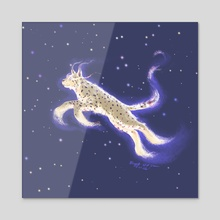 Stellar lynx - Acrylic by Birgitte Johnsen