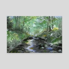 Forest Stream - Canvas by Tess Myers