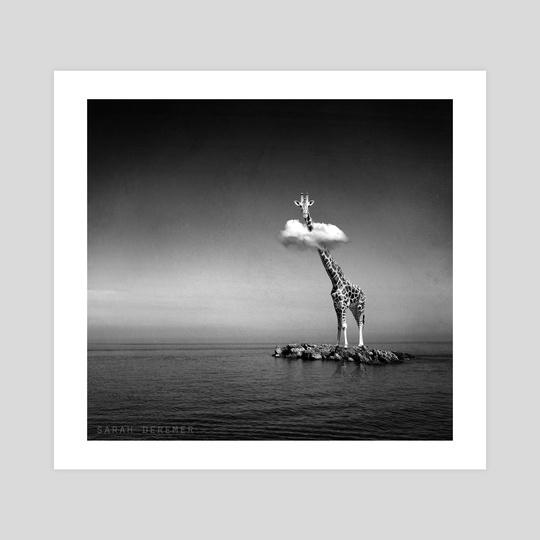 Giraffe & Clouds by Sarah DeRemer