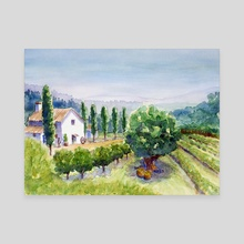 French vineyard - Canvas by Carl Conway