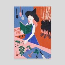 Little Witch  - Canvas by Allie Runnion