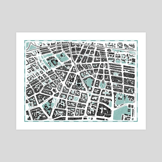 Map of Berlin Prenzlauer Berg (color option 1) by Tanya Shyika