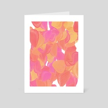 The big oils 5 bubbly pink  Portrait version  - Art Card by Navita Williams