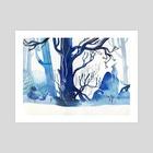 Winter Rabbit - Art Print by Faryn Hughes