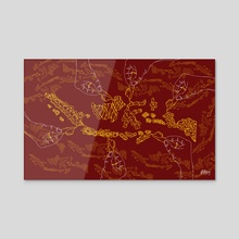 Indonesia in batik - Acrylic by Dede