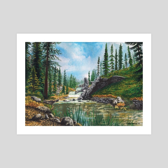 Skyrim - White River Waterfalls  by Cody Davis