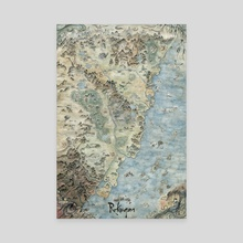 Legend of the Five Rings - Map of Rokugan - Canvas by Francesca Baerald