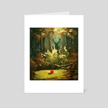 The Forest King - Art Card by Daryl  Toh