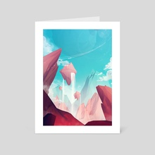 Low Poly Planets - Art Card by Jonathan Lam