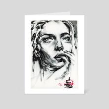 smudge girl - Art Card by Alex Wylie