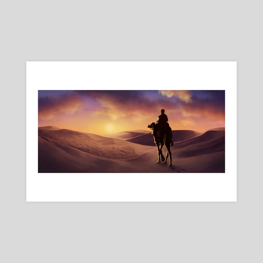 Desert Sunset by Louhi
