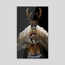 Ijiraq - Acrylic by Karla (Syv) Solorio