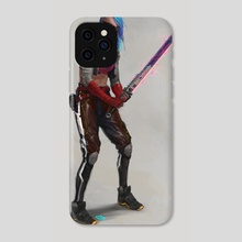 Cyber Punk Girl - Phone Case by Miguel Iglesias