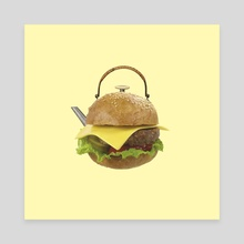 Hamburger - Canvas by igor kalatay