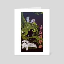 Mononoke Hime - Art Card by Katherine Henri