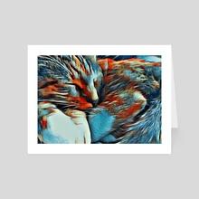 Sleeping cat - Art Card by Bruce Rolff