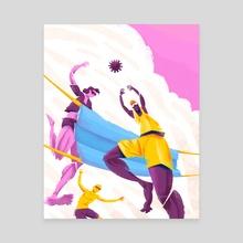 COVIDBALL - Canvas by Anton Kotelenets
