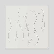female silhouette I - Acrylic by Ana Brezovec