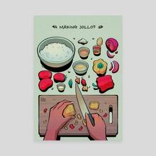 Making Jollof - Canvas by Adanna