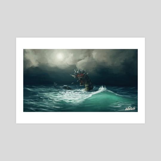 Gyarados in the Ocean by Holly Humphries