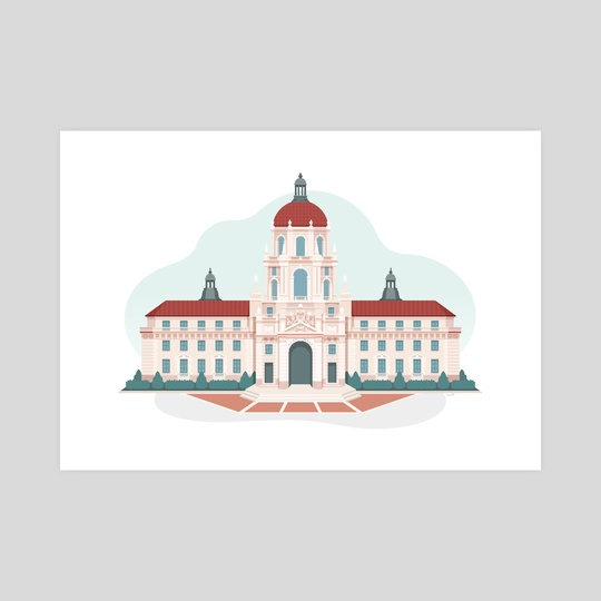 Pawnee City Hall (Parks and Recreation fan art) by Chris Cerrato