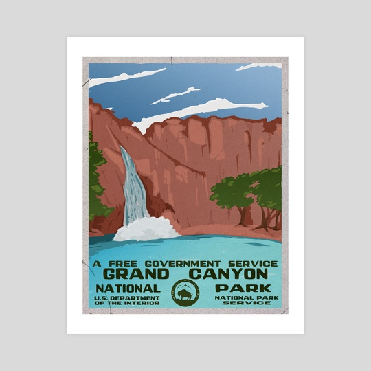 Grand Canyon, Havasu Falls by Kristin Sholler