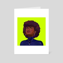 Blue Afro - Art Card by Coeur
