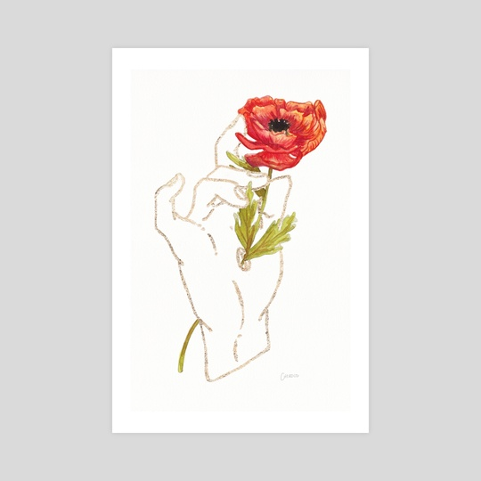 Poppy - Gold (Gilded Hands Series) by Catherine Herold