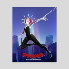 Spider Gwen Poster - Canvas by Atharva Jumde