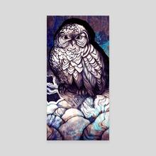 Winter Owl Panel 2 - Canvas by Sara Blake