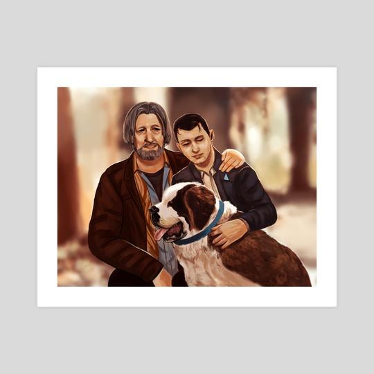 Hank, Connor, and Sumo by Eurydia
