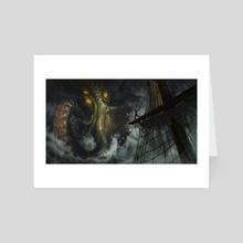 kraken - Art Card by Elisa Serio