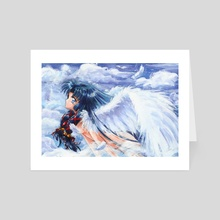 Sky Girl Anime Fanart - Art Card by Aurora Borealis