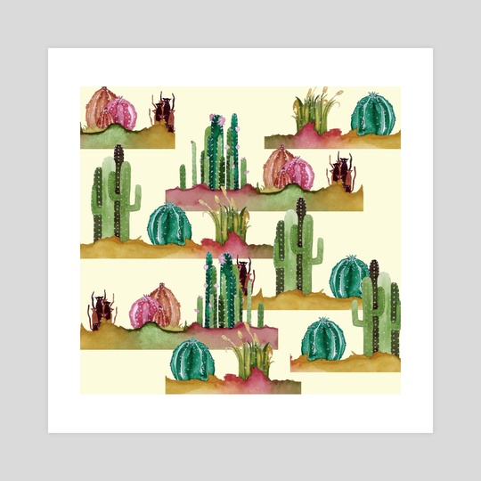 cactus n cats 01 by Catarina Ferreira