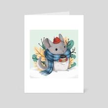 Soft Warm Chinchilla - Art Card by Pamela Yeung Ribeiro