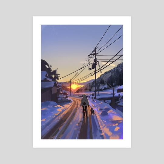 Winter walk by Atey Ghailan