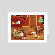 You and Me - Art Card by Nancy Muller