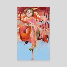 pink world - Canvas by Margaryta Sheiko