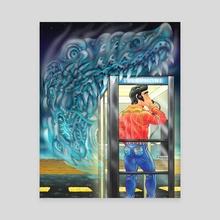 Fear Booth - Canvas by Matthew Panuska