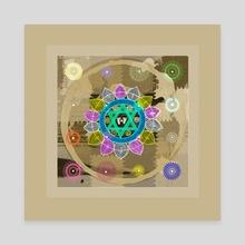 Mandala - Canvas by Anuradha Grover