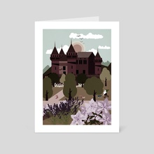 Castle and  Flower garden  2 - Art Card by Michal Eyal
