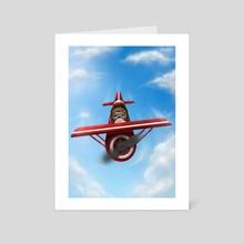 Airplane - Art Card by Eda Herz