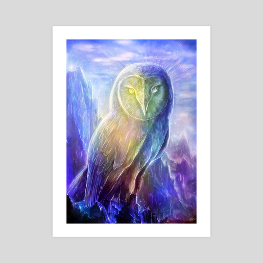 Crystalline Owl by Louis Dyer