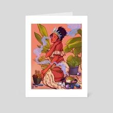 Crystal Girl - Art Card by Moe Balinger