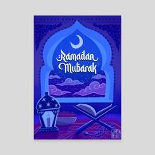 Ramadan Mubarak - Canvas by Jamila Mehio