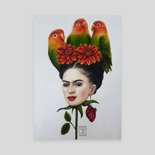 Head of Frida Kahlo - Canvas by Isa Magnolia Mendes
