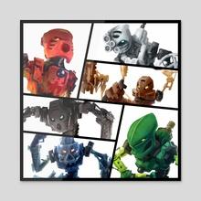 Six Heroes, One Destiny - Acrylic by Eden Sanders